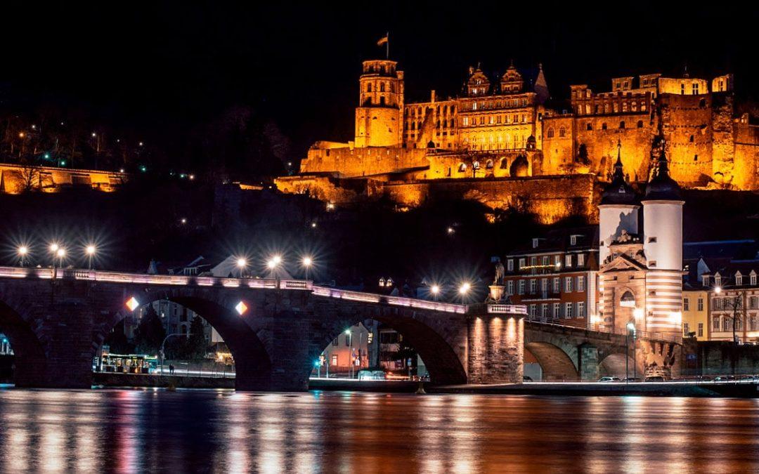 Fotokurs   Heidelberg bei Nacht